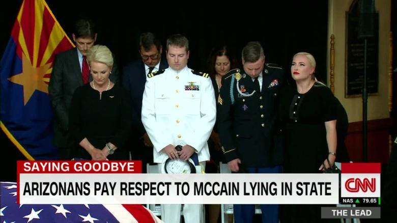 McCain family gives emotional goodbye