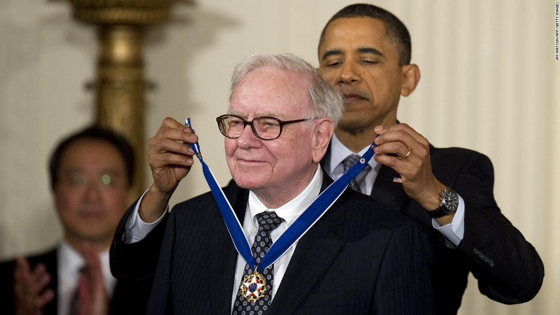 "President Barack Obama awards the Presidential Medal of Freedom to Buffett in 2011. ""Today, we know Warren Buffett not only as one of the world's richest men, but also one of the most admired and respected,"" Obama said. ""Unmoved by financial fads, he has doggedly sought out value, put his weight behind companies with promise and demonstrated that integrity isn't just a good trait -- it is good for business."""