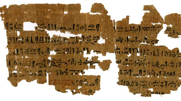 An Egyptian papyrus, from between 1500 and 1300 BC, offers a method for diagnosing pregnancy. It advises women to pee into a bag of barley and a bag of wheat. The papyrus is one of many currently being translated by an international team of researchers at the University of Copenhagen.   Flip through the gallery to see more intriguing archaeological finds.