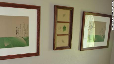 Frames hanging on the walls of the Hart family home didn't contain any family photos.