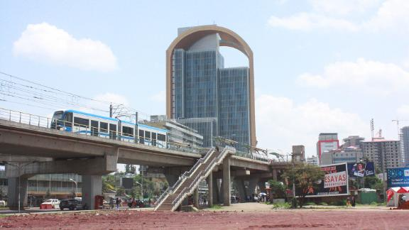 The LRT passes through Addis Ababa.