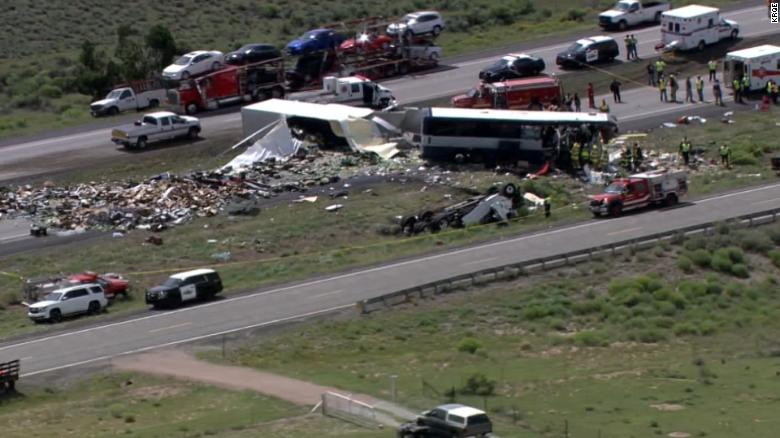 Multiple dead after semi-truck crashes into Greyhound bus