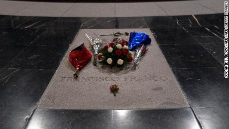 The grave of Spain's General Francisco Franco.