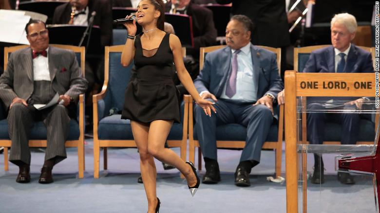 Ariana Grandes Performance At Aretha Franklins Funeral Brings