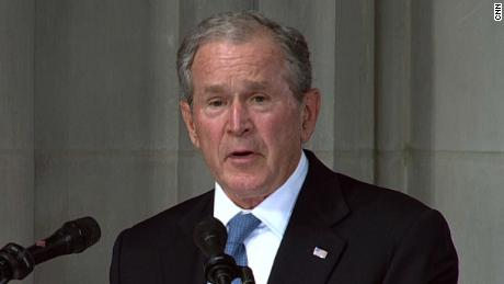 Bush remembers McCain: 'Rivalry melted away' with senator who 'made me better'