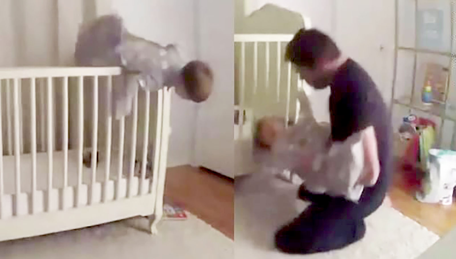 See Dad S Amazing Catch Of Falling Toddler