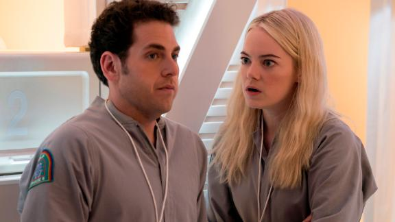"""I've watched the trailer 50 times and still can't think of a coherent way to describe this series about a drug trial gone bonkers. So let's just say, in the words of Emma Stone's character, it's about """"multi-reality, brain-magic sh—."""""""