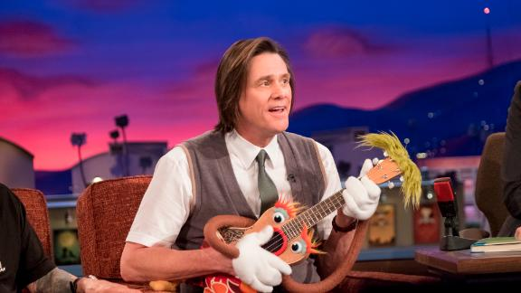 """Jim Carrey returns to TV -- and reunites with """"Eternal Sunshine of the Spotless Mind"""" director Michel Gondry -- as the Mr. Rogers-like host of a children"""