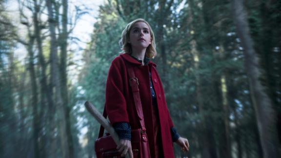 """This coming-of-age story tells the beginnings of Sabrina the Teenage Witch, played by """"Mad Men"""" alum Kiernan Shipka. The dark series draws influence from """"Rosemary"""