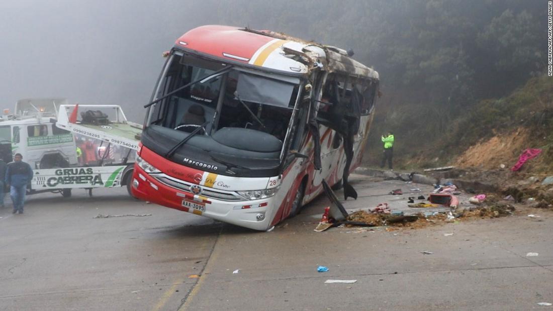 11 killed in latest deadly Ecuador bus crash