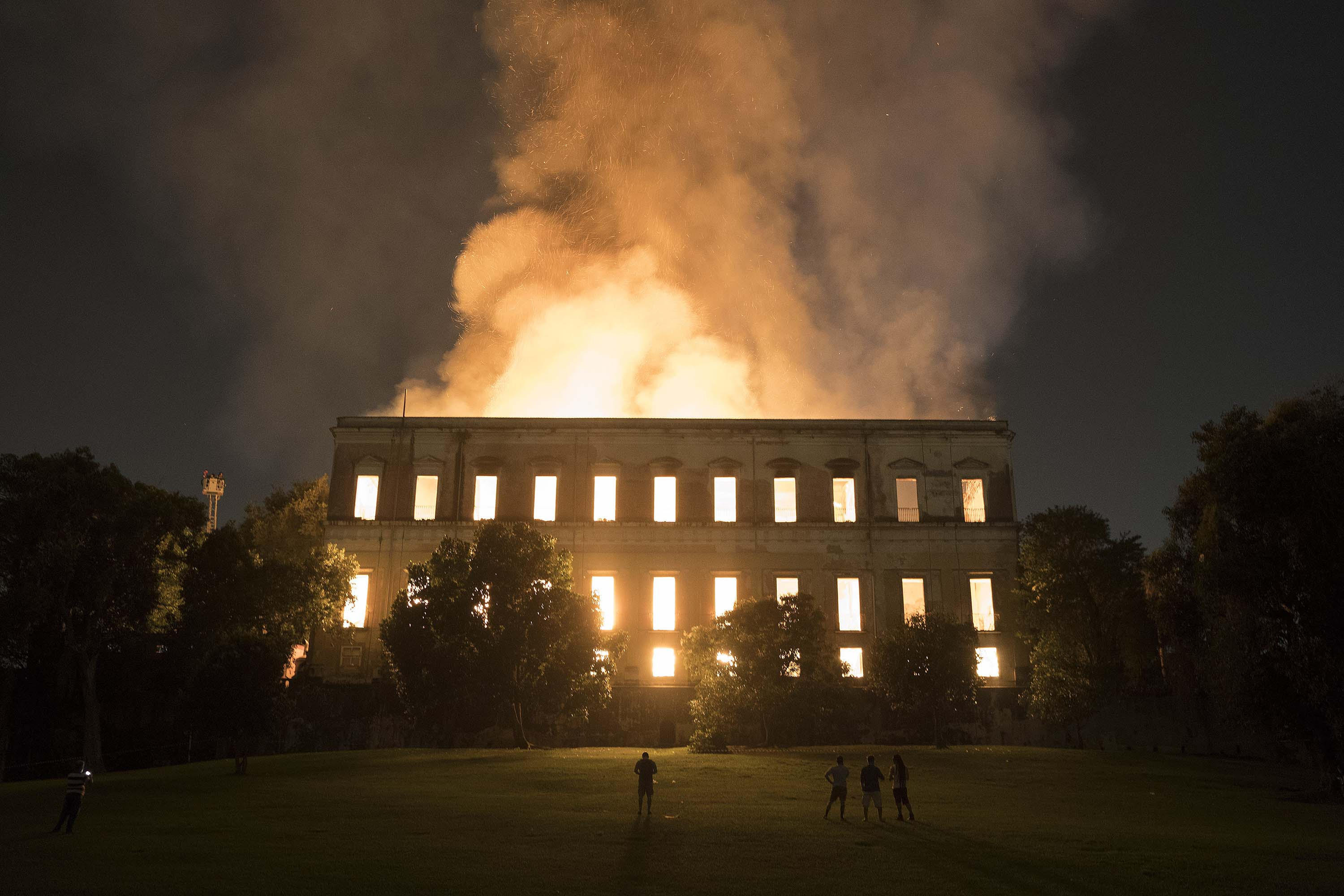 Image result for National Museum of Brazil is engulfed by flames