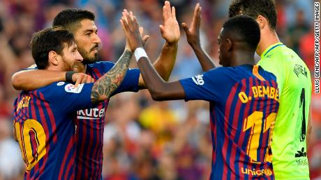 Barcelona has won all three of their opening La Liga matches