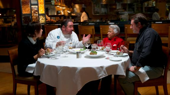 Family Meal: New Orleans roundtable with chefs Nina Compton, Emeril Lagasse, Leah Chase, and Donald Link. Photo taken at Emeril
