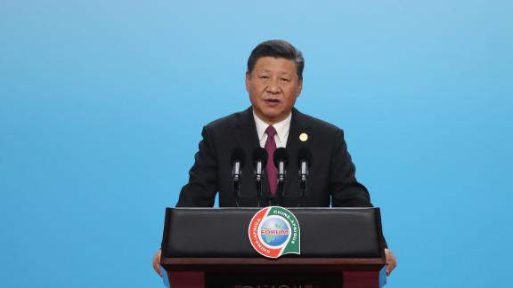 Chinese President Xi Jinping in Beijing on September 3, 2018.