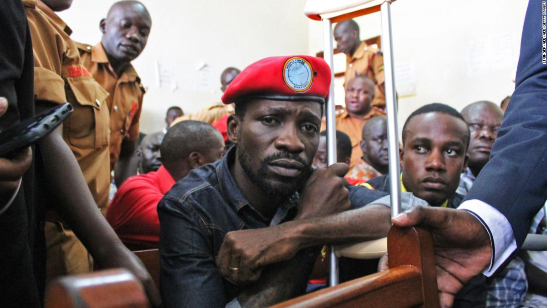 "Ugandan singer-turned-politician Robert Kyagulanyi, popularly known as Bobi Wine, has been highly <a href=""https://edition.cnn.com/2019/07/24/africa/bobi-wine-presidential-bid-intl/index.html"" target=""_blank"">critical of the Ugandan president</a>, Yoweri Museveni, who has ruled Uganda for the past 33 years."