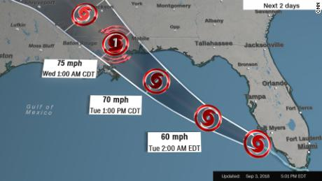 tropical storm gordon lashes south florida and heads toward gulf