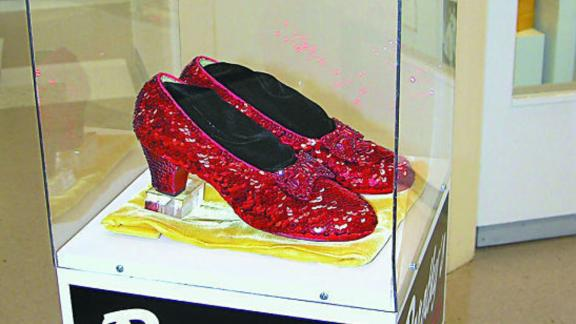 The slippers were stolen in 2005 from the Judy Garland Museum in Grand Rapids, Minnesota.