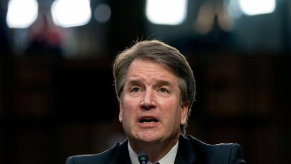 President Donald Trump's Supreme Court nominee, Brett Kavanaugh, a federal appeals court judge, speaks before the Senate Judiciary Committee on Capitol Hill in Washington, Tuesday, Sept. 4, 2018, to begin his confirmation to replace retired Justice Anthony Kennedy. (AP Photo/Andrew Harnik)