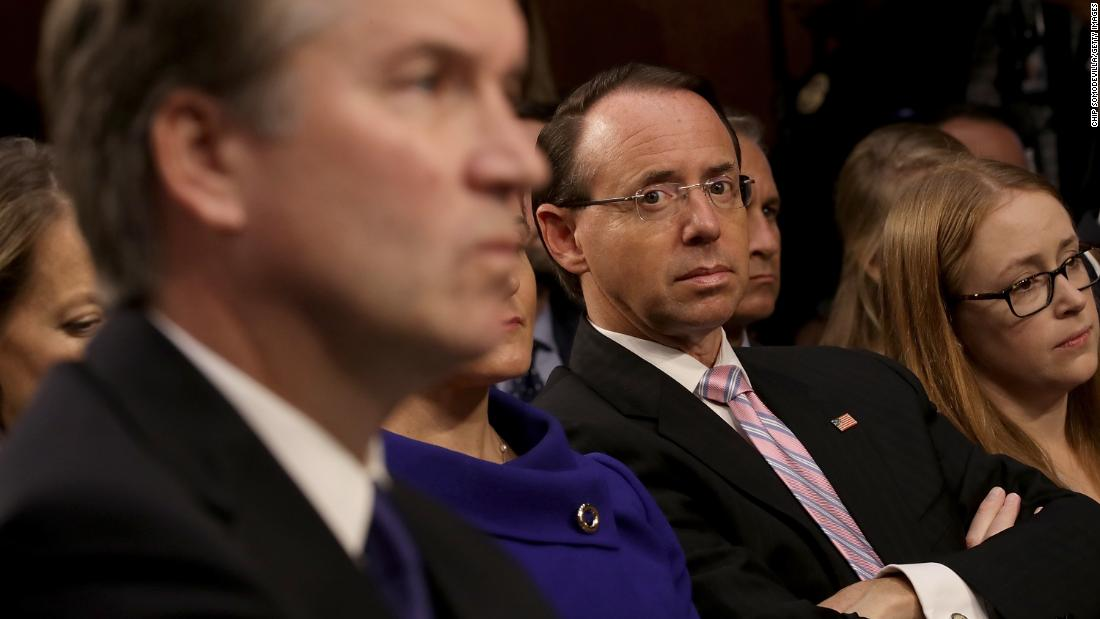 GOP allies urge Trump not to fire Rosenstein ahead of Kavanaugh confirmation, midterms