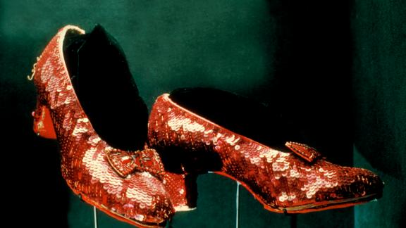 "UNITED STATES - JANUARY 01:  red ruby shoes worn by Judy Garland as Dorothy in ""The Wizard of Oz"" on display at Smithsonian Museum.  (Photo by Henry Groskinsky/The LIFE Images Collection/Getty Images)"