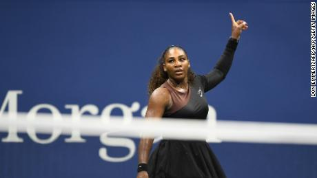 Serena Williams is through to her 12th US Open semifinal.