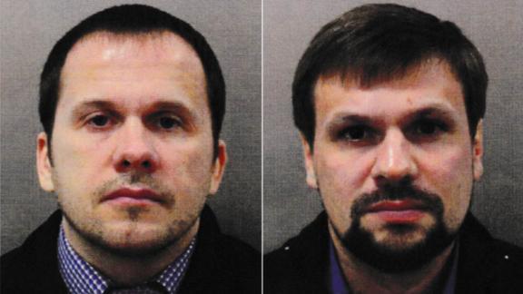 Salisbury attack suspects Alexander Petrov, left, and Ruslan Boshirov