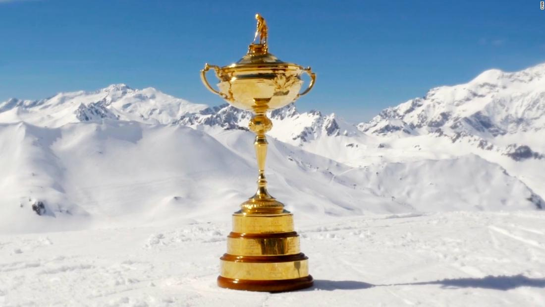 This month sees the Ryder Cup take place in France for the first time, at Le Golf National just outside Paris. The trophy made a trip to Val d'Isere for a special tournament to mark the forthcoming match between the US and Europe.