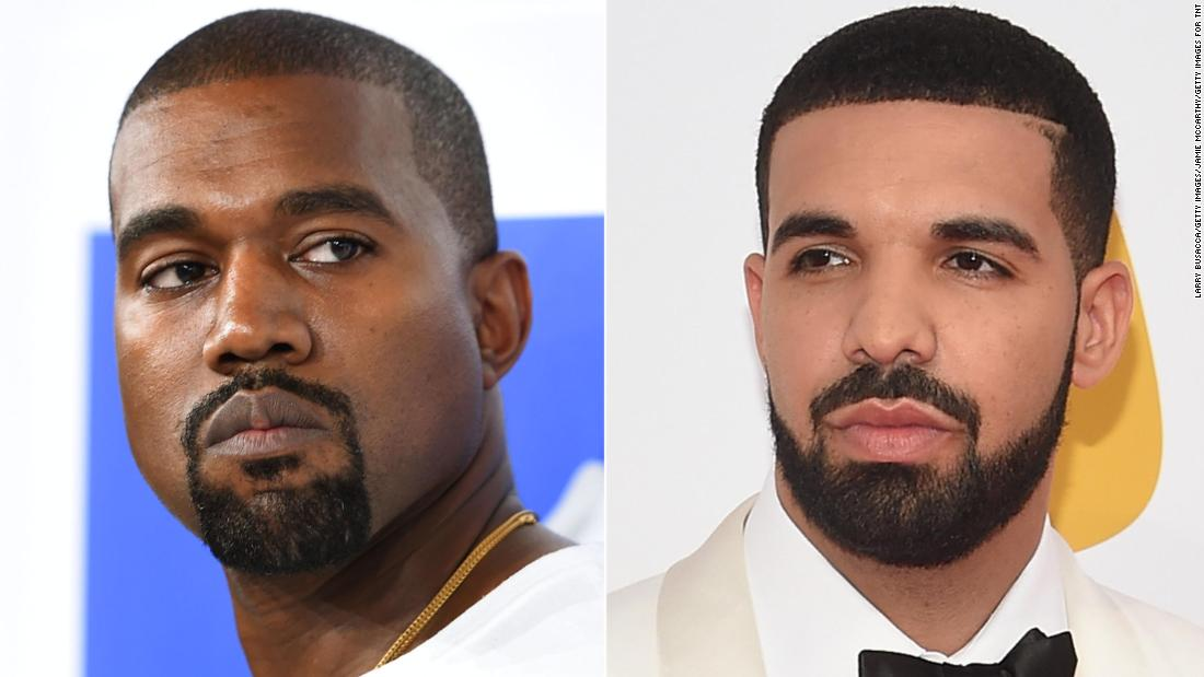"Kanye West took to Twitter in September 2018 to apologize to fellow rapper Drake after West got caught up in <a href=""https://www.cnn.com/2018/05/31/entertainment/drake-pusha-t-blackface/index.html"" target=""_blank"">a beef Drake was having with Pusha- T. </a> He seemed to renew the <a href=""http://www.cnn.com/2018/12/14/entertainment/kanye-west-drake/index.html"" target=""_blank"">feud in a barrage of tweets</a> in December."
