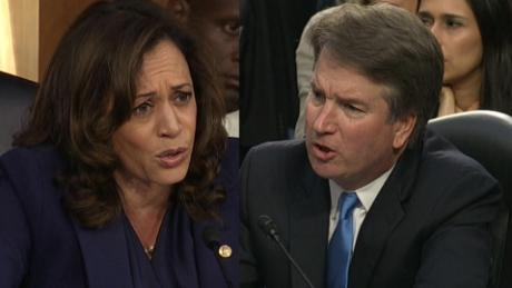 Kavanaugh answers Harris, denies conversations on Mueller probe