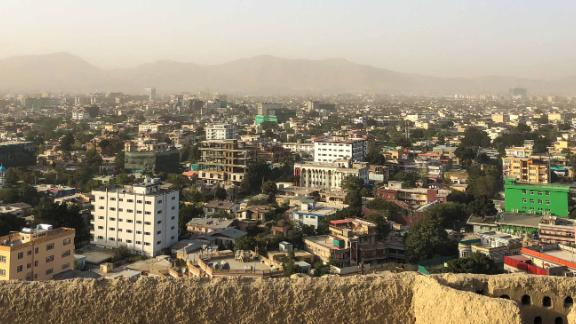 "A view of Kabul, where fighting has increased in recent months. ""When I'm coming from home and I say hello to my baby and wife, I am thinking sometimes there is no guarantee to be back at home,"" says surgeon Najibullah Hekmat."
