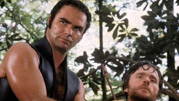 "Reynolds' breakthrough movie role was outdoorsman Lewis Medlock in 1972's ""Deliverance."""