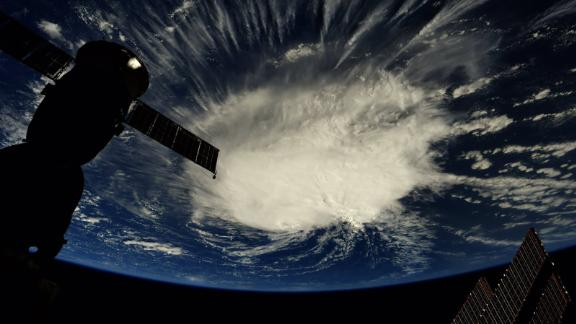 Florence appears over the open Atlantic in an image from the International Space Station.