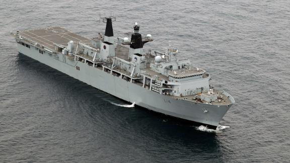 HMS Albion takes part in exercise Auriga on July 14, 2010 near Camp Lejeune, North Carolina.