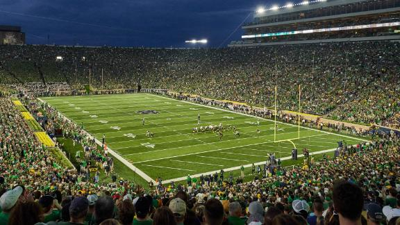 Notre Dame Stadium in South Bend, Indiana