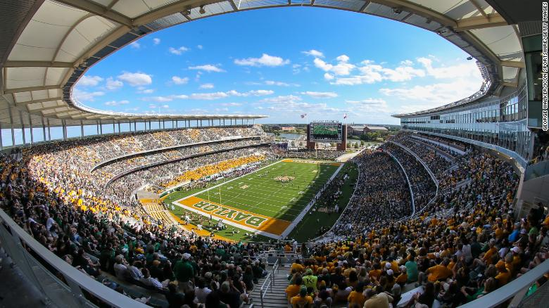 McLane Stadium in Waco, Texas