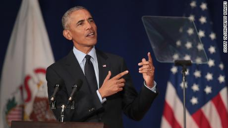 Urbana Il September  Former President Barack Obama Speaks To Students At The