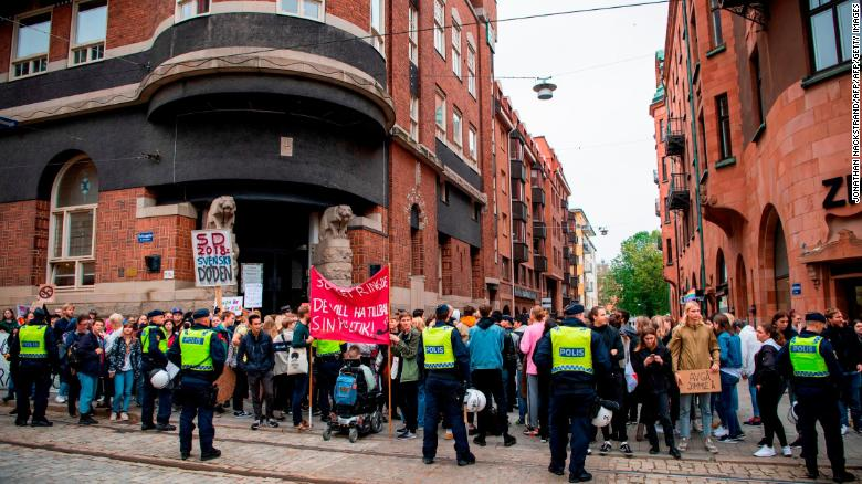 The predicted far-right surge in Sweden has sparked protests across the country.