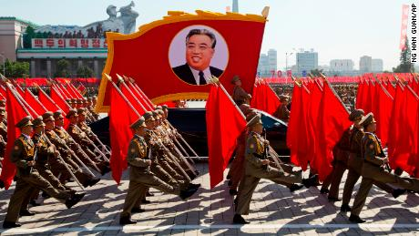 N  Korea holds military parade for anniversary