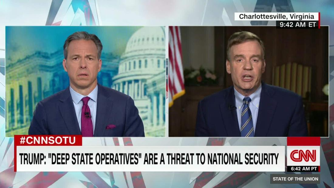 Warner: Anonymous op-ed is no threat to national security