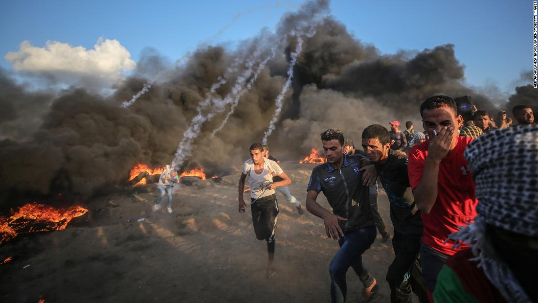 Two Palestinian teenagers killed in Gaza protests