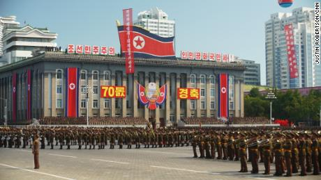 North Korea holds military parade without ICBMs