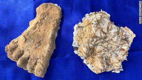 Bigfoot researcher Lee Woods brought two casts he'd collected over the years.