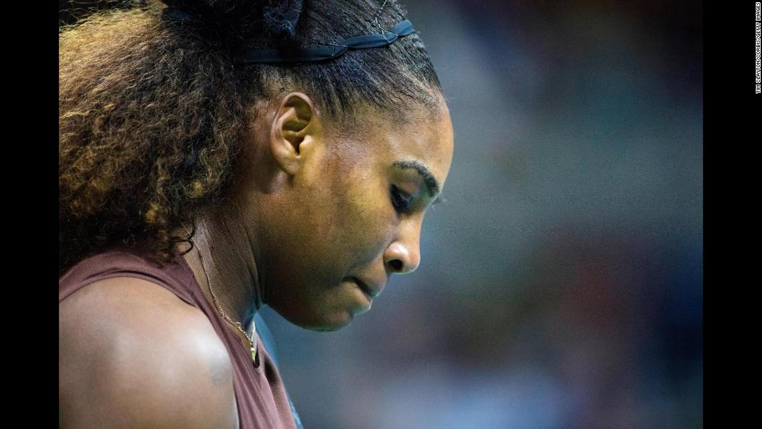 "Serena Williams after discussions with the tournament officials during her match against Naomi Osaka of Japan in the Women's Singles Final on Saturday, September 8. <a href=""https://www.cnn.com/2018/09/09/tennis/serena-williams-fine-us-open/index.html"">The US Open has fined Serena Williams $17,000 for three code violations during her loss.</a> <a href=""http://www.cnn.com/2018/09/02/sport/gallery/what-a-shot-sports-0902/index.html""><strong>See 28 amazing sports photos from last week.</strong></a>"