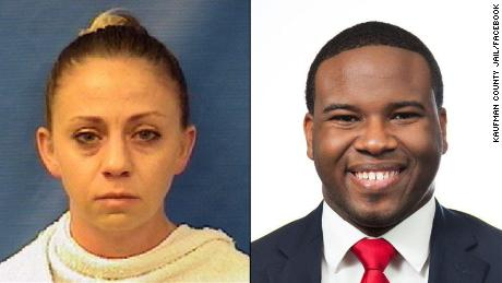 Amber Guyger (left) and  Botham Jean (right)