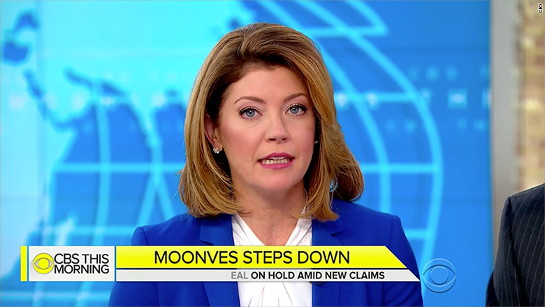 Watch: Norah O'Donnell reacts to Moonves exit (2018)