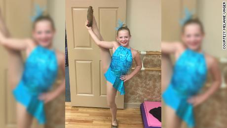 Delaney Unger dances before her cancer diagnosis.