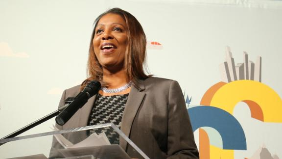Tish James, NYC Public Advocate attends the Grand Opening of Gulliver's Gate, Times Square's Newest Attraction, at Times Square on May 9, 2017 in New York City.