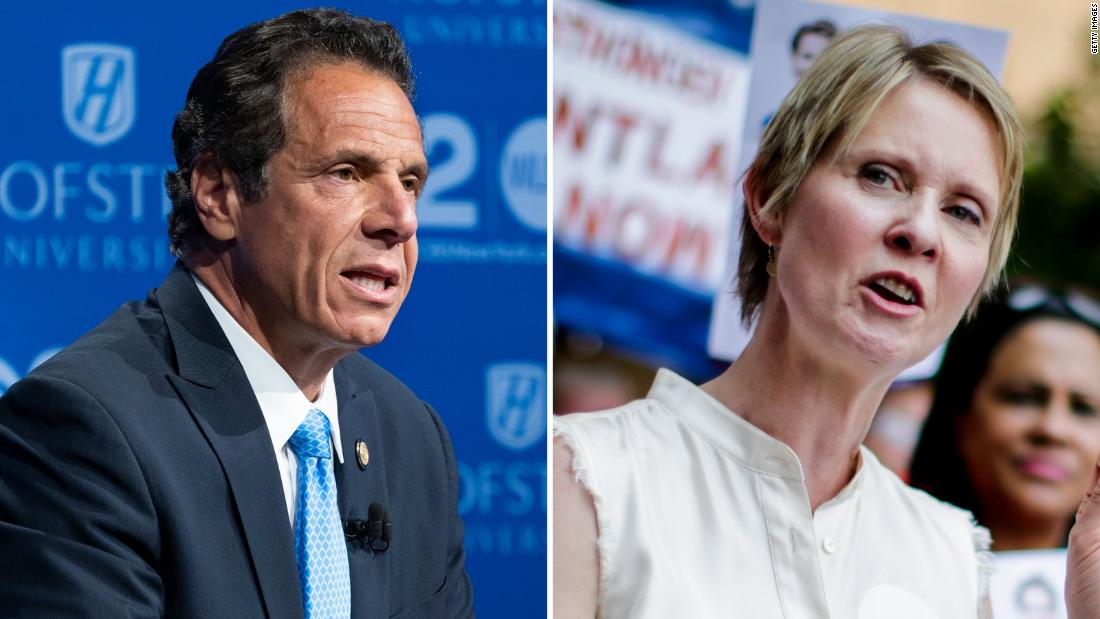 Live: New York Gov. Andrew Cuomo easily defeats Cynthia Nixon in primary election
