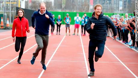 "Prince Harry and the Duke and Duchess of Cambridge competed in a race to promote the ""Heads Together"" campaign in 2017."