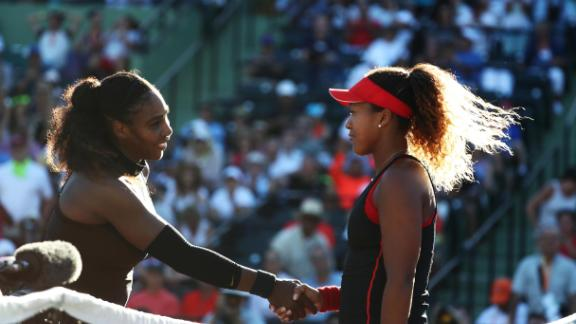 - In March 2018, Osaka was pitted against her tennis hero for the first time, in the first round of the Miami Open. It was Serena